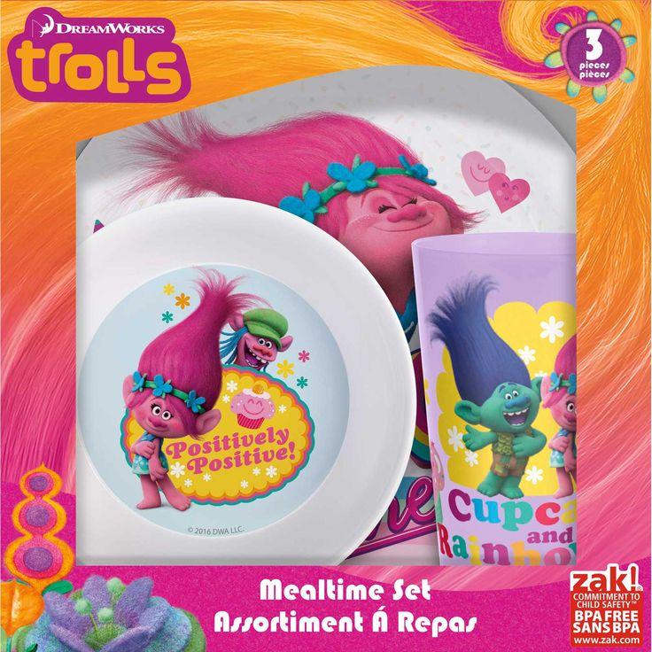 Trolls Kids Dinner Sets For Sale at Zak Designs!  sc 1 st  Pinterest & 29 best Kids Dinner Sets - Personalised Kids Stuff images on ...