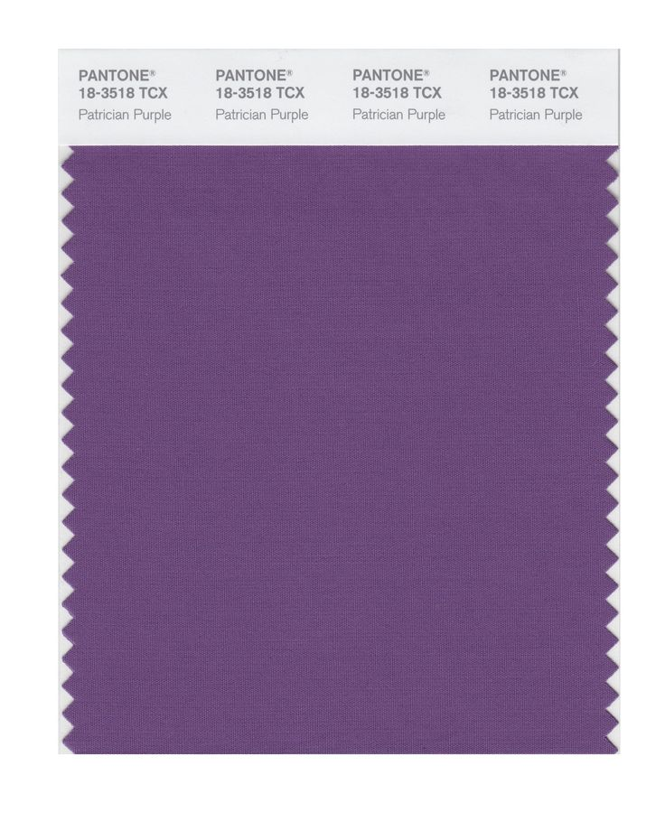 PANTONE SMART 18-3224X Color Swatch Card, Patrician Purple as neutral for suits, cardigans, jackets, coats, trousses, skirts...to face use clear cool tints, far away from face use middle or darker cool tones like this muted purple. Purple or violet is perfect for easy combinations with you colours.