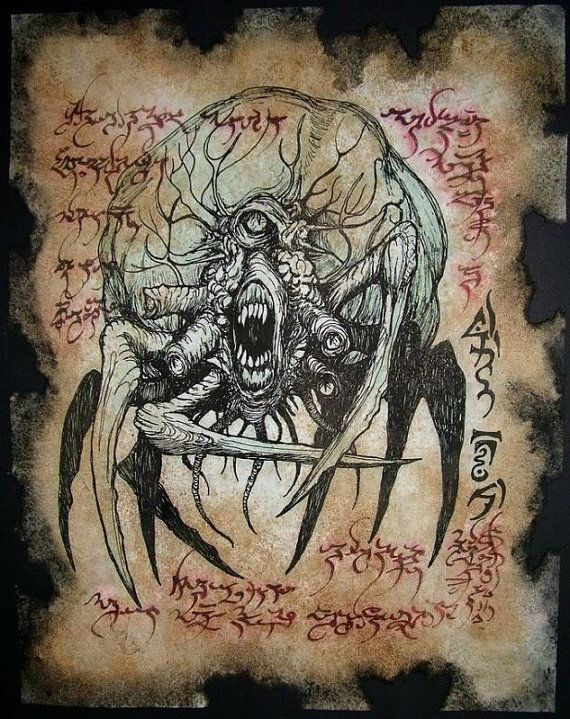 SPAWN of NEBROS cthulhu larp Necronomicon Fragment by zarono, $10.00