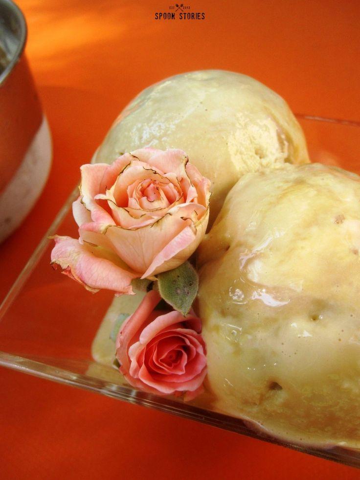 παγωτό καραμέλας- dulce de leche ice cream