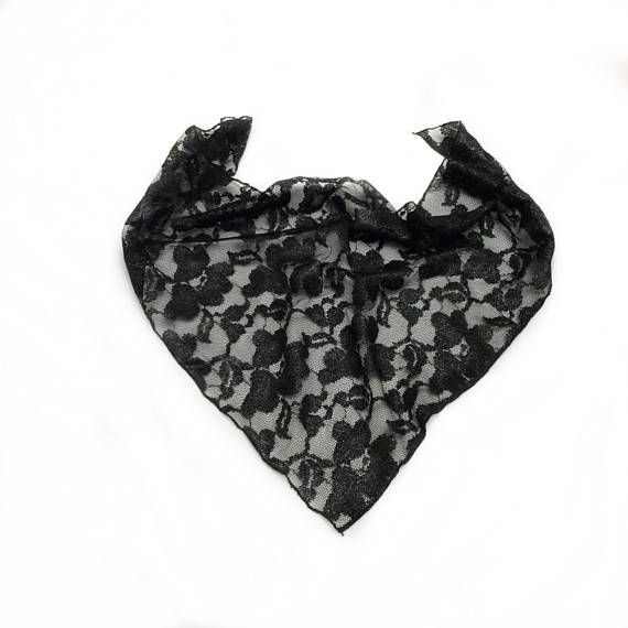 Black lace scarf Coworker Boss Birthday Present Holiday