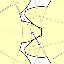 train/epicycloidal développante de cercle