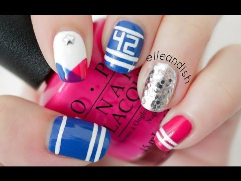 Sporty School Spirit Nails! Represent your favorite Sports Team! - YouTube