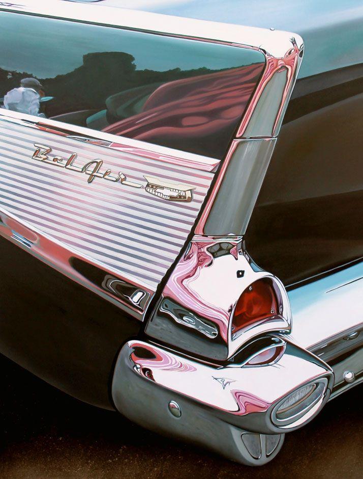 "Bel Air with Pink, 2013 oil on aluminum panel, 23 x 30""    © Cheryl Kelley, Courtesy of Bernarducci Meisel Gallery / http://www.yatzer.com/Cheryl-Kelley"