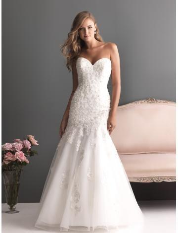 Jaro 2014 Elegantní & luxusní Nášivky Svatební šaty 2013