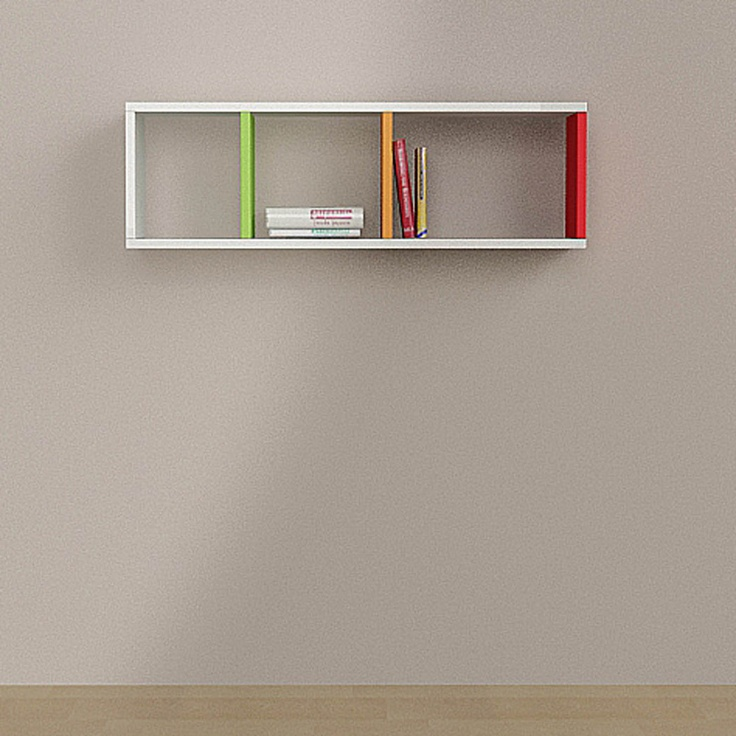 Decortie Matte Colours Wall Shelves, Multicoloured