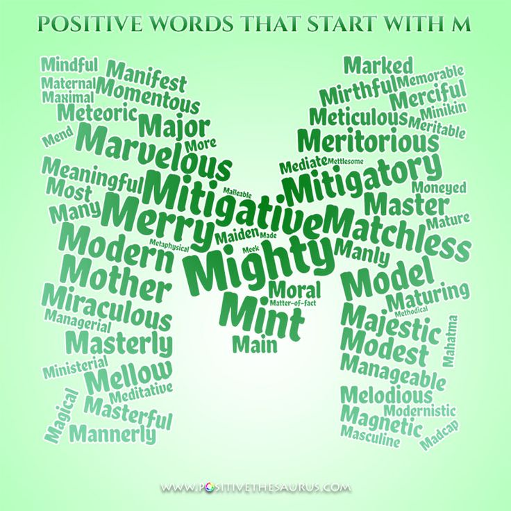 Positive Adjectives That Start With M