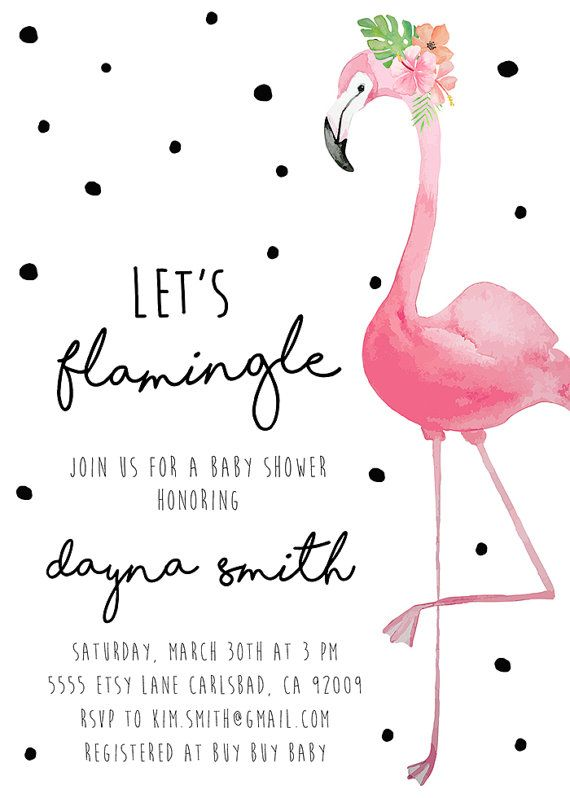 Flamingo Party Invitation Baby Shower by KirraReynaDesigns on Etsy