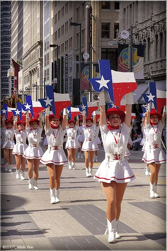 Texas State Fair Opening Day Parade in downtown Dallas.