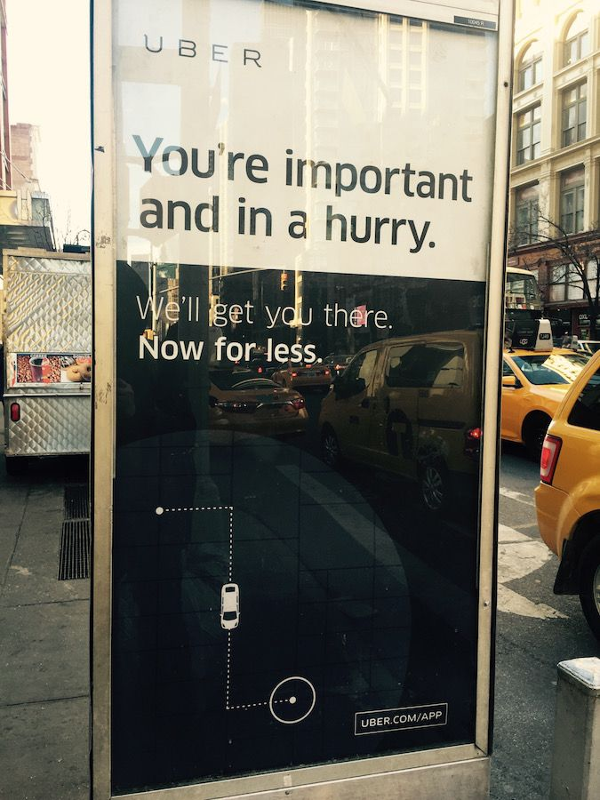 """I spotted this bus shelter ad on Sixth Avenue this morning and thought that it was a perfect encapsulation of the """"do it for me"""" class of products. Share this:"""