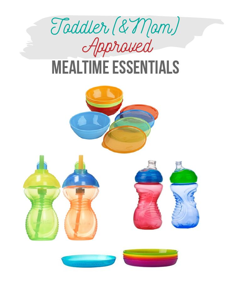 Toddler & Mom Approved Mealtime Essentials - Best Sippy Cup, Best Toddler Plates, Best Toddler Bowls. Nuby Sippy Cup, Gerber Bowls & Ikea Kalas Plates. Toddler Feeding