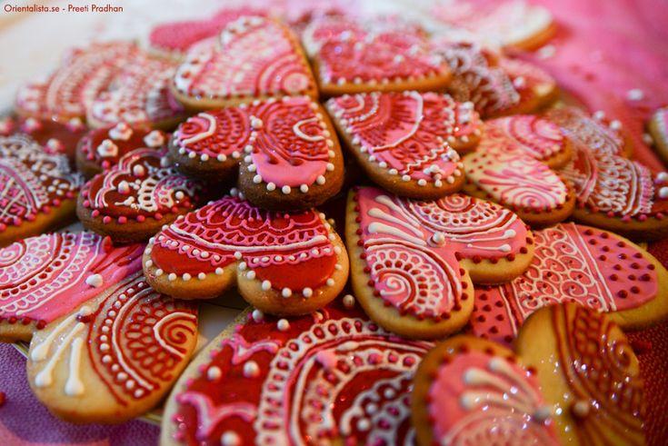 Hennadekorerande kärlekskakor | Orientalista.se