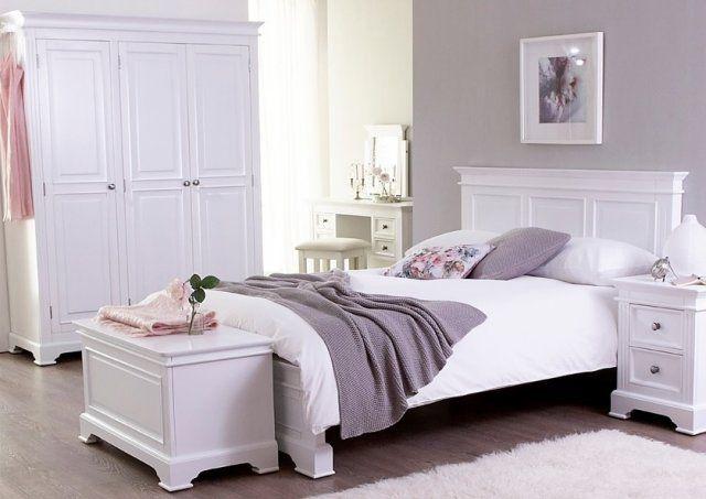 Manhattan Oak Kingsize 5ft Bed Frame White Painted Bedroom Furniture White Bedroom Set White Bedroom Furniture