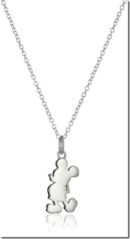 Disney Discovery- Sterling Silver Mickey Mouse Necklace