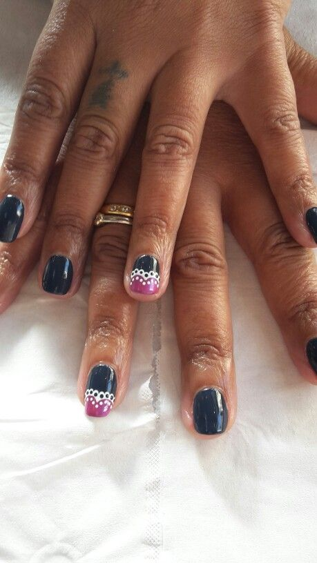 Lacey heart nail design