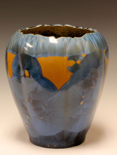 Orange And Blue Vase by Duly Mitchell