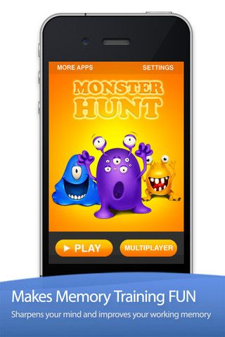 Monster Hunt - The Memory Game  ($0.00) A winning combination of simplicity, creativity, and addictive gameplay make this the most enjoyable memory improvement game yet for the whole family.     WHY YOU WILL LOVE MONSTER HUNT    ✔ Sharpens your mind  ✔ Helps you remember where things are  ✔ Increases mental alertness in 60 seconds  ✔ Increases short term retention  ✔ Improves spacial recall  ✔ It's fitness for your brain!  ✔ The multi-player mode makes it fun for the whole family