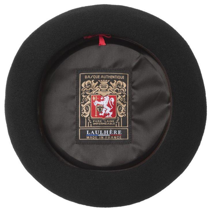 Achetez le vrai béret français Laulhère : le Béret Basque Authentique Premium en laine, noir ou marine, 53 à 61 cm. Fabriqué à la main à Oloron Sainte Marie