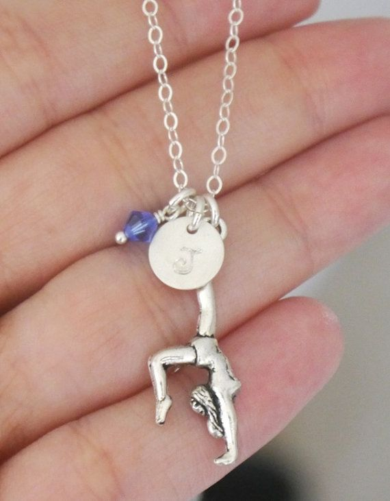 Gymnast Gymnastics Gift for Gymnast Girl by MadiesCharms on Etsy, $22.95