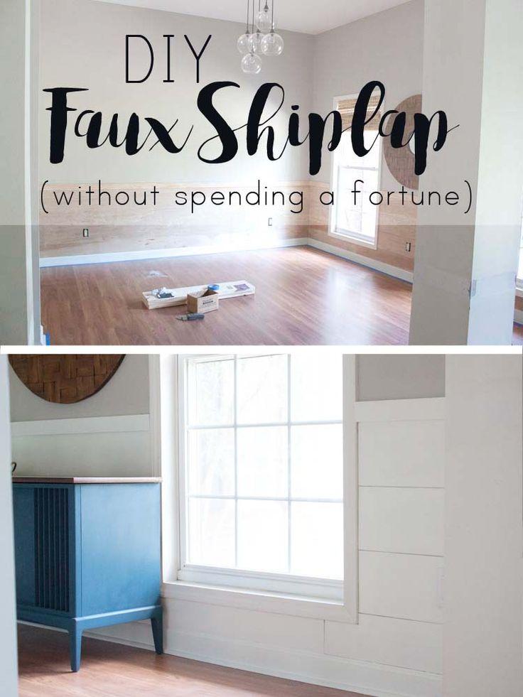 DIY Faux Shiplap ohne ein Vermögen auszugeben