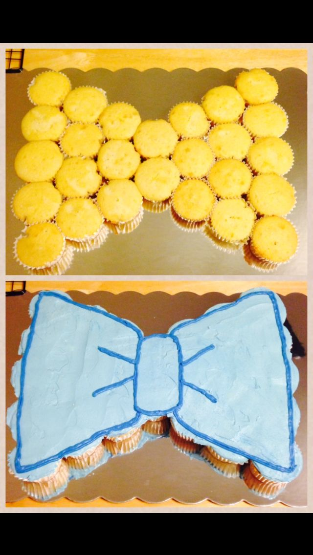 Bow-tie pull-apart cupcake cake