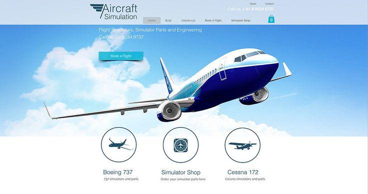Web Design - Aircraft Simulators and parts with onlin eshop