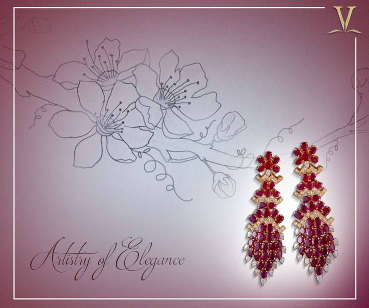 With intricate detail to each adornment, the profound ruby danglers designed precisely for you #ArtistryOfElegance