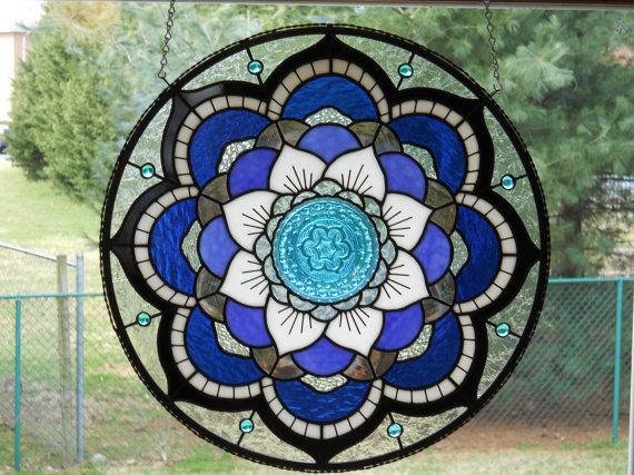Stunning Mandala Stained Glass Panel FREE by connysstainedglass