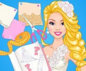 Trendy Barbie Wedding Dress Design Barbie Dress Up Game
