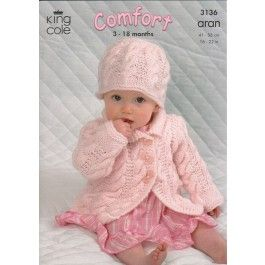 Coat, Dress, Sweater and Hat in King Cole Comfort Aran (3136) £2.99