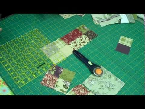 The Scrappy 4 Patch Quilt Tutorial- so simple!  Making my son a stroller quilt using this technique.