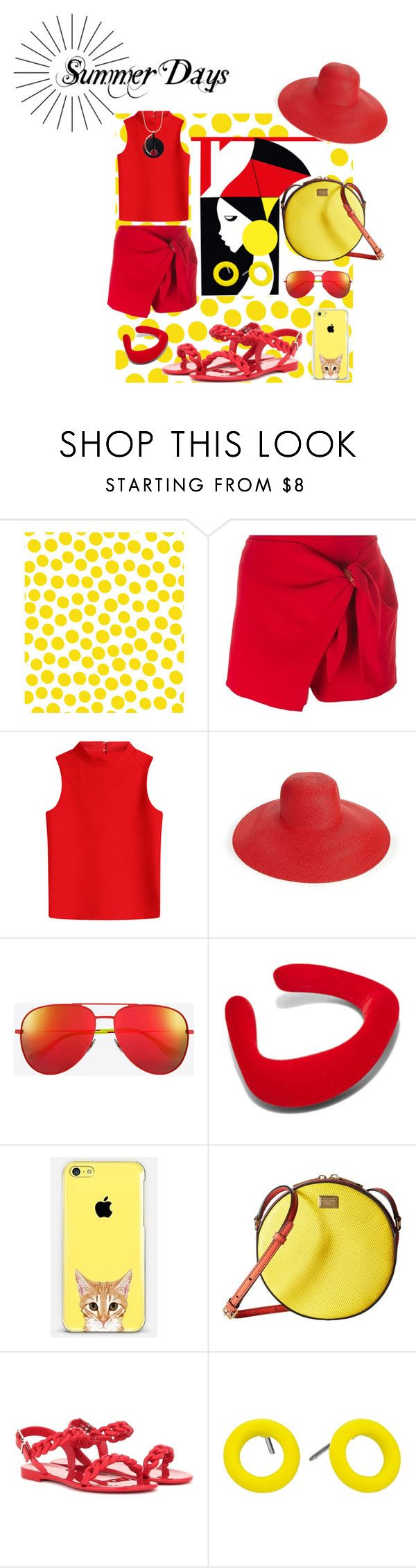 """""""Summer Days"""" by enchanticals ❤ liked on Polyvore featuring Jennifer Paganelli, Ermanno Scervino, Courrèges, Eric Javits, Yves Saint Laurent, Ribeyron, Casetify, Dolce&Gabbana, Givenchy and Marc by Marc Jacobs"""