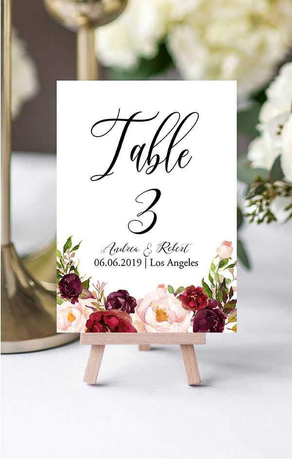Perfect Elegant And Romantic Table Numbers Card Ideas Boho