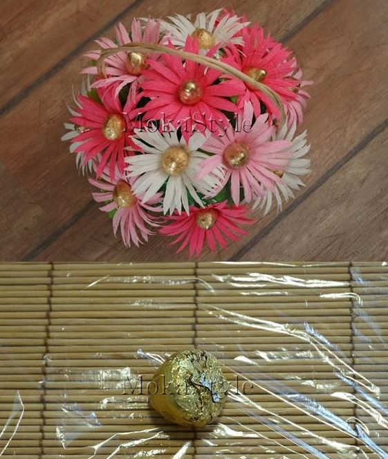 This would be great to make to go with a year end teachers gift.  DIY Chocolate Gerbera Flower Bouquet - HowToInstructions.Us