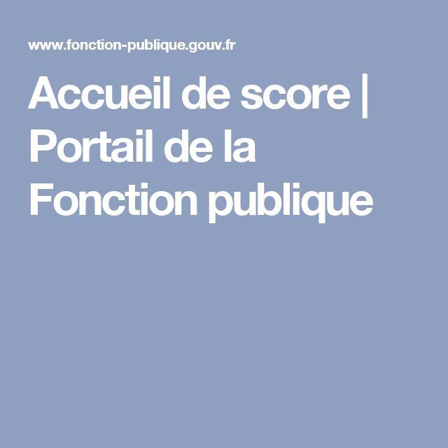 Accueil de score   Portail de la Fonction publique