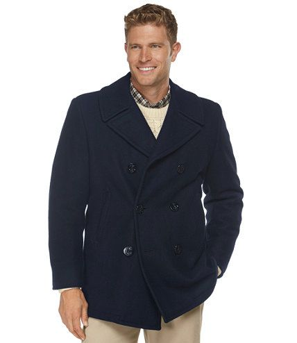 L.L.Bean Authentic Men's Wool Peacoat - Made in the USA