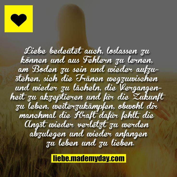 Liebe bedeutet auch, loslassen zu können und aus Fehlern
