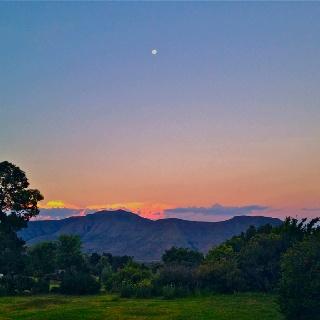 Moonrise. Lesotho