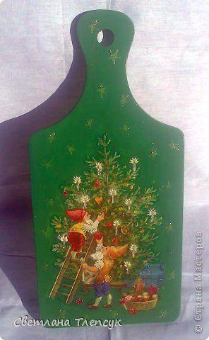 Декор предметов Новый год Декупаж Декупаж много фото Клей Салфетки фото 12