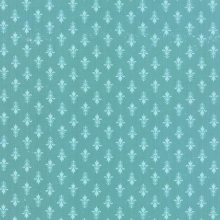 Moda Fabrics MKS2893-21 Kindred Spirits Teal by Bunny Hill Designs // Moda at Juberry Fabric