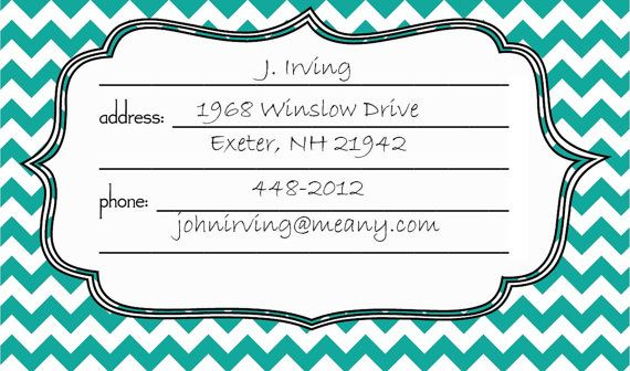 I still use a Rolodex. I do: I like the feel of the little cards on my fingertips and it is truly much faster than using my computer every time I need an address. If you are a Luddite like me, download these sweet Rolodex cards and pretty up your desk.  What you do:  * Purchase this