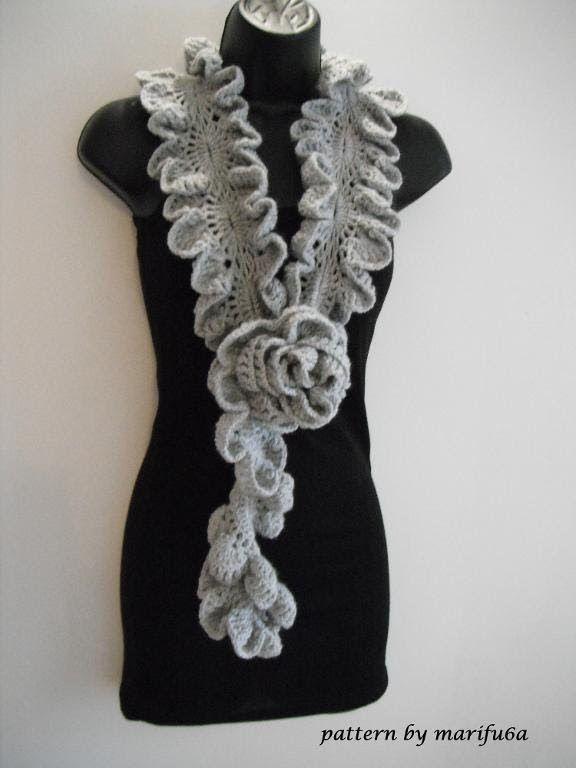 Free Crochet Pattern For A Ruffle Scarf : 25+ best Crochet Ruffle Scarf ideas on Pinterest ...