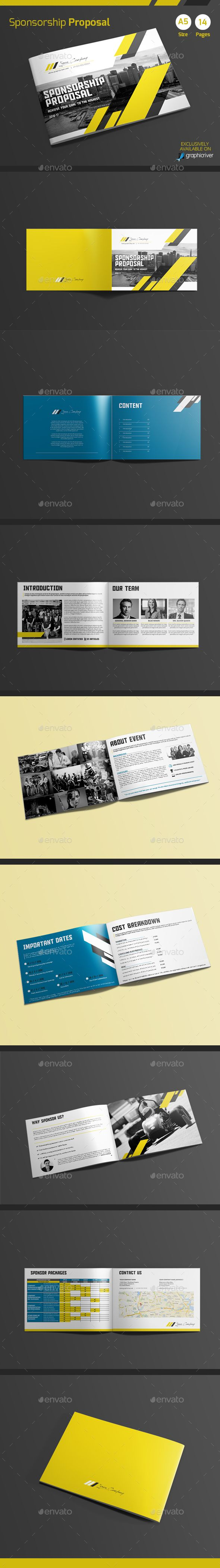Sponsorship Proposal Template InDesign INDD Download here