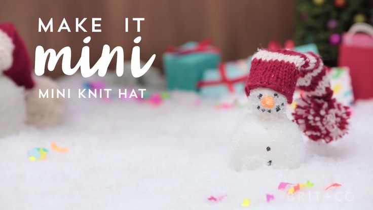 Even snowmen get cold! Put your knitting skills to the test by making one of these tiny holiday knit hats. Bonus: They all make great festive wine toppers!