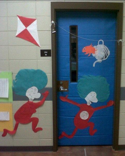 Dr suess door decorations dr seuss classroom ideas board door
