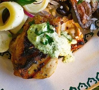 Sos verde Aji Încearcă un sos verde, cremos, perfect pentru preparatele la grătar. Pentru familie, Internationala, petrecere, sos, Vegetariana