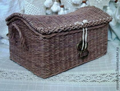Сундучок плетеный - бежевый,сундучок плетеный,шкатулка,теплый цвет,уютный дом