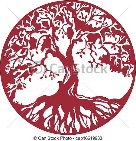 vector oak tree stock illustration royalty free illustrations stock clip