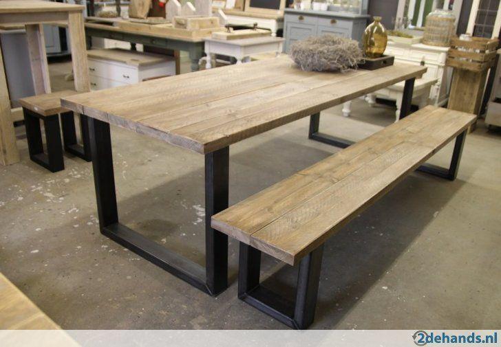 hoge tafel / bartafel industrieel staal hout op maat gemaakt