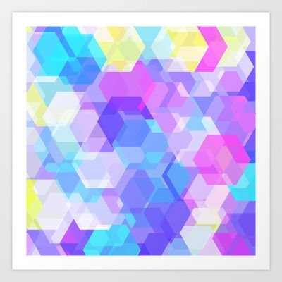 Six Sided Polygon Art Print by House Of Jennifer - $18.00